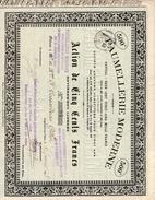 Ardennes GUIGNICOURT Sur VENCE 1898 Paumelllerie Moderne - Actions & Titres