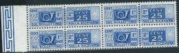 Italia 1955 Nuovo** - Pacchi Postali Stelle C.25 Quartina - Pacchi Postali