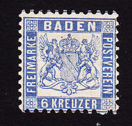 Baden, Scott #22, Mint Hinged, Coat Of Arms, Issued 1862 - Baden
