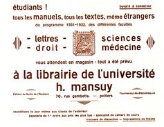 Pa L MBuvard Librairie H Mansuy   (N= 1) - Papeterie