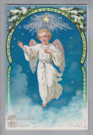 AK Motiv Engel Ostern Ungebraucht Präge-Litho #8057 - Anges