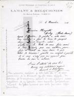 75 - Paris - PARIS-9e - Facture LAMANT & DELQUIGNIES - Scierie De Courtenay – 1919 - REF 251B - 1900 – 1949