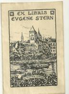 Ex-libris Eugene Stern Strasbourg Quais Saint Thomas In Veritas Caritas - Ex-libris