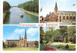 Groeten Uit Bree (Limburg)-Multivues-Het Kanaal-Kerk Sint-Michiels-Stadhuis-Gerdingen Klooster-Uitg. Huis Breema - Bree