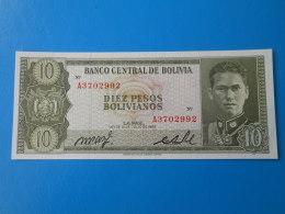 Bolivie Bolivia 10 Pesos Bolivianos 1962 P154a UNC - Bolivia