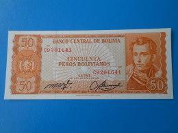 Bolivie Bolivia 50 Pesos Bolivianos 1962 P162a UNC - Bolivia