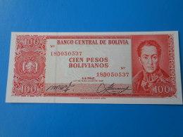 Bolivie Bolivia 100 Pesos Bolivianos 1962 P164A UNC - Bolivia