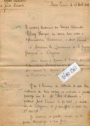 VP6392 - Colonies Française - CAYENNE - GUYANE - Lettre Du Médecin HELARY- Hopital Pénitenciaire De SAINT LAURENT - Documents Historiques