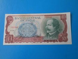Chili Chile 10 Escudos 1970 P142 AUNC - Chile