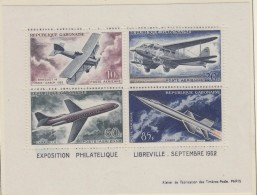 Gabon 1962 Airplanes /  Space / Exposition Philatelique Libreville M/s ** Mnh (33747) - Gabon (1960-...)