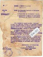 VP6401 - Colonies Française - GUYANE - Note - Circulaire - Hopital Pénitentiaire De SAINT LAURENT DU MARONI - Documents Historiques