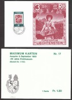 Liechtenstein MK MC 1980 / 50 Years Of The Post Museum / Fruits / Grapes And Apples