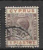 1924 USED Cyprus Wmk Script CA - Cyprus (...-1960)
