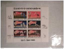 1980 Korea Foglietto Francobolli Olimpiadi Di Mosca Moscow Nuovo Con Annullo - Corea (...-1945)