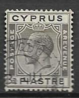 1925 USED Cyprus Wmk Script CA - Cyprus (...-1960)