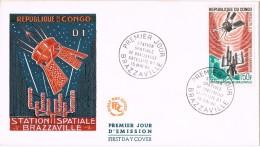 20194. Carta F.D.C. BRAZZAVILLE (Congo) 1968. Station Spatiale. Espace. Espacio - Africa