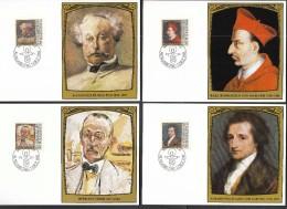 Liechtenstein MK MC 1981 / Art / Paintings / Portraits Of Famous Visitors / Borromeo / Goethe / Dumas / Hesse - Non Classés