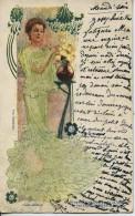 11248 - Spectacle - CABARET /MOULIN ROUGE - YVETTE  GUILBERT  -  Illustrateur Art Déco  - Circulée En 1904 - Cabarets
