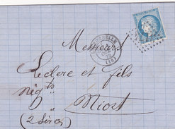 645    -  LSC  -  CERES  60-   LA  ROCHELLE  -  NIORT - Postmark Collection (Covers)