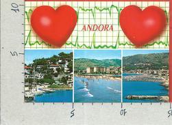 CARTOLINA VG ITALIA - ANDORA (IM) - Vedutine - Cuori - 10 X 15 - ANN. 1992 - Imperia
