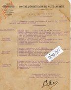 VP6414 - Colonies Française - GUYANE  - Note De Service - Hopital Pénitentiaire De SAINT LAURENT DU MARONI - Documents Historiques