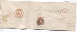 TP 8 S/Bordereau C.Louvain + P 76 Marge 3 Côtés 11/9/1856 V.Namur C.d'arrivée PR3699 - 1851-1857 Médaillons (6/8)