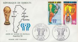 Enveloppe  FDC  1er  Jour   DJIBOUTI    Coupe  Du   Monde  De  Football   1978 - Djibouti (1977-...)
