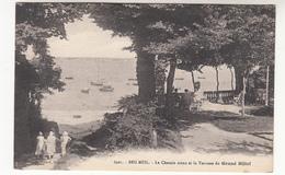 CPA Beg Meil, Le Chemin Creux Et La Terrasse Du Grand Hôtel (pk31215) - Beg Meil