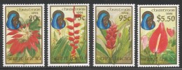 1994 St. Lucia Christmas Flowers Complete Set Of 4  MNH - St.Lucia (1979-...)