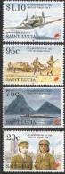 1995 St. Lucia End Of World War II U-boat Submarine Complete Set Of 4  MNH - St.Lucia (1979-...)