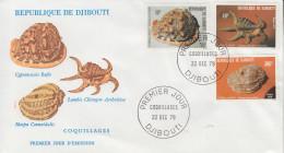 Enveloppe  FDC  1er  Jour   DJIBOUTI    Coquillages   1979 - Djibouti (1977-...)