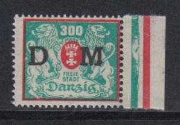 (04275) Danzig Dienstmarke 35 IV Ungebraucht Mit Falz - Dantzig