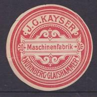 Empire GERMANY DEUTSCHES REICH J.G. Kayser, Nürnberg ** MNH . . . . [EA46] - Factories & Industries