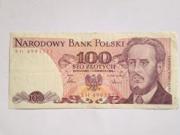 Billete Polonia. 100 Zlotich. 1986 - Polonia