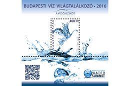Hungary 2016. Water Worldcongress, Budapest Sheet With Animals / Water Birds / Marine Life - MNH (**) - Blocks & Kleinbögen