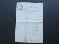 Russland Interessanter Beleg. Bartaxe 24/11 2 Stempel. - 1857-1916 Imperium