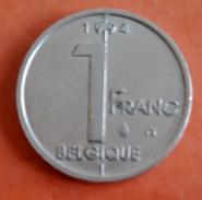 Belgique 1 Franc - Albert II (KM= 187) - SUP - 02. 1 Franc