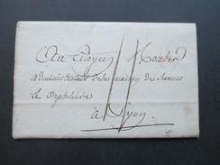FRankreich Vorphila / Prephila Anfang 19. Jahrhundert?! Blauer Stempel: Charite A Lyon - Marcophilie (Lettres)