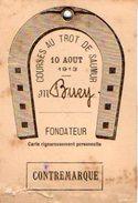 VP6416 - Equitation - Carte - Courses Au Trot De SAUMUR - M.BURY - Cartes
