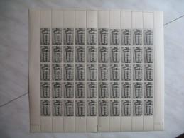 Feuille  Complète  50  Timbres N° 611  De 1945 Neuf ** TB Côte 100 € ( 2 Feuilles N° De Suivie 76059 Et 76060) - Zonder Classificatie