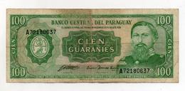 Paraguay - Banconota Da 100 Guaranies - Usata - (FDC1732) - Paraguay