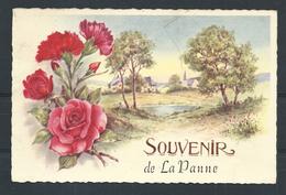 +++ CPA - Carte Fantaisie - Souvenir De LA PANNE - Fleur Rose  // - De Panne
