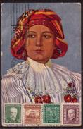 JP155     Czechoslovakia 1930 - Postcard From Kosice To Moengo Suriname USA Multiple Stamps - Cecoslovacchia