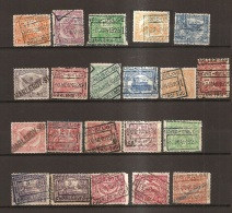 VAFE-2940   NORD BELGE  CHARLEROI OP UITGIFTE 1919-1920   Kleine Stempelverzameling - Bahnwesen