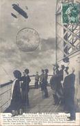 Le Comte De LAMBERT Sur Biplan Wright Ariel Au Dessus De La Tour Eiffel - ....-1914: Précurseurs