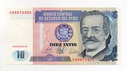 Perù - 1987 - Banconota Da 10 INTIS - Nuova -  (FDC1733) - Perú