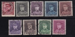 BELGIUM, 1931, Used Stamp(s), Albert I, MI 305-313,  #10303, Complete - Used Stamps