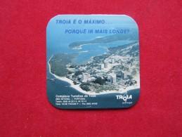 Vintage Sous Bock - Coaster - Base De Copo Troia Portugal - Plaques En Carton