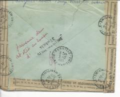 """De Belgique Lochristi >> Yerville Timbres 1342, 1351, 1352, 1353 Env.réparée Par La Poste """"parvenue Dans Cet état... - Postmark Collection (Covers)"""