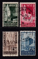 BELGIUM, 1934, Used Stamp(s), World Exposition, MI 378-381,  #10307, Complete - Belgium